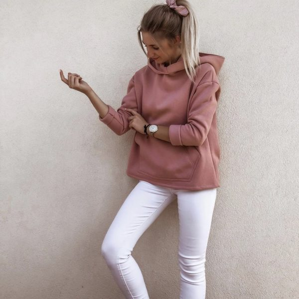 Mikina Lens ružová