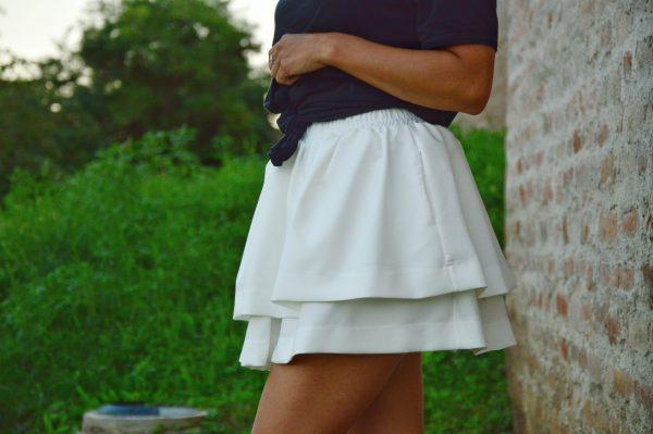 Sukňa Paulína biela