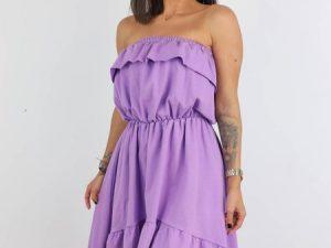 Fialové šaty Hana