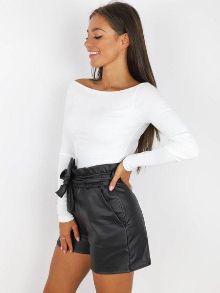 Čierne krátke nohavice Markéta