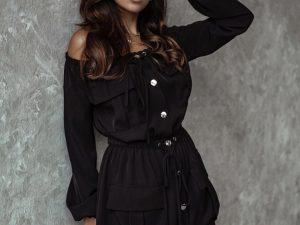 Čierne šaty -30%