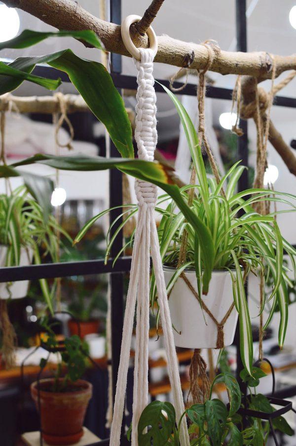 Macramé záves na kvetináč 110 cm Anna