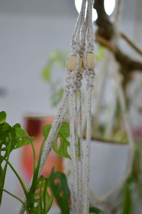 Macramé TWIST záves na kvetináč 89 cm Dorota