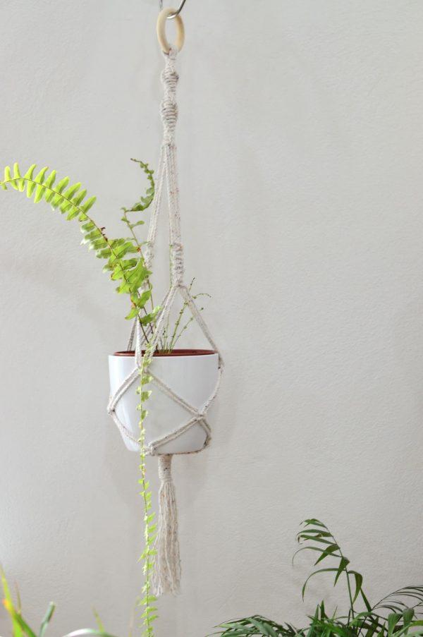 Macramé TWIST záves na kvetináč 79 cm Laura