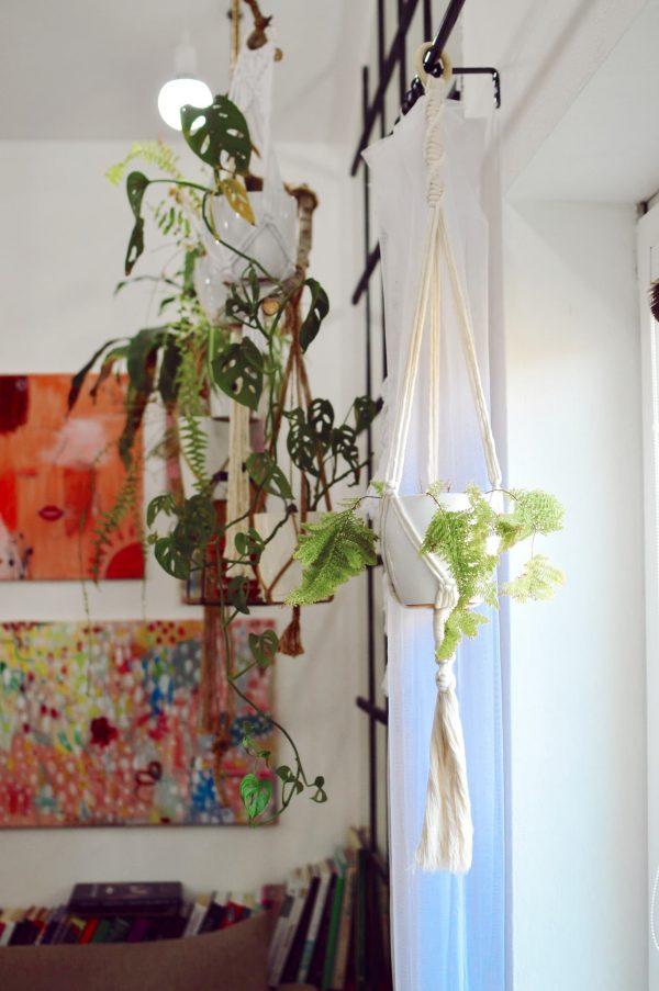 Macramé záves na kvetináč 112 cm Katka