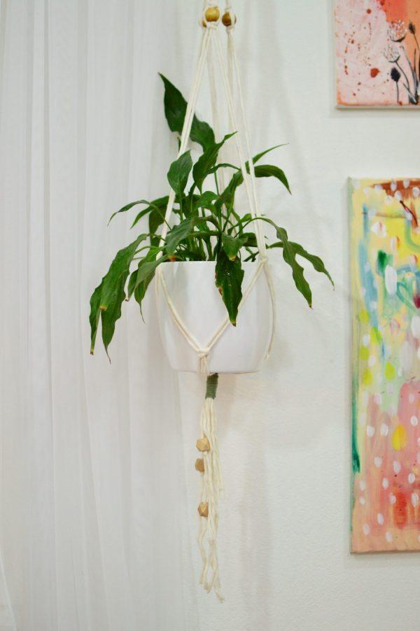 Macramé záves na kvetináč 118 cm Petra