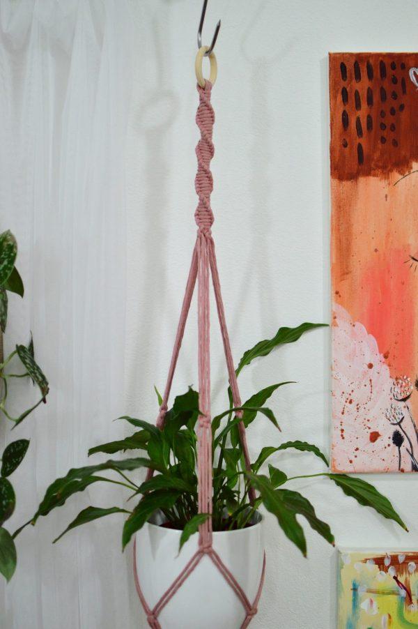 Macramé záves na kvetináč 96 cm Lucia