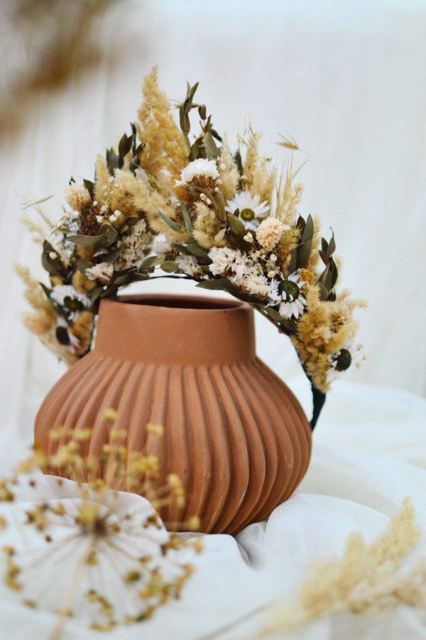 Parta zo sušených bylín a kvetov Isabel
